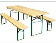 Õllemööbel, laud(50x220cm) ja pingid (25x220cm)
